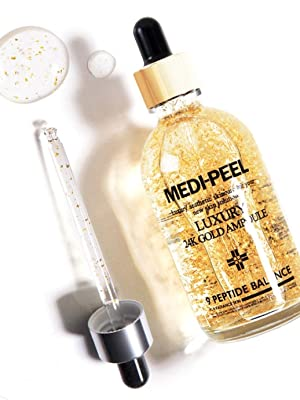 formulated with 99.9% pure gold and peptide, gold anti-aging serum, improve wrinkles