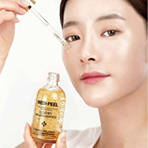 hydration with gold and peptide, anti-wrinkle, brighten skin